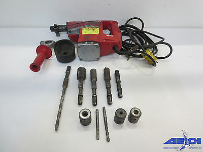 Itt Phillips Red Head 747 Roto Stop Hammer Drill; Includes Several Bits