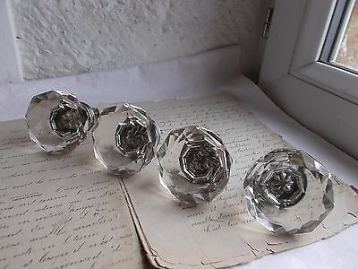 French set of 4 vintage crystal door cabinet furniture knobs project gorgeous