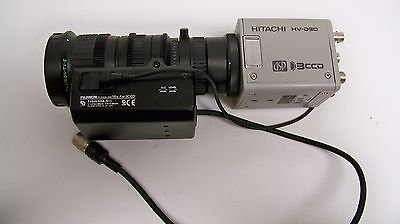 Hitachi HV-D30-S4 High Resolution C Mount 3CCD Color Camera, w/ Lens (4B)