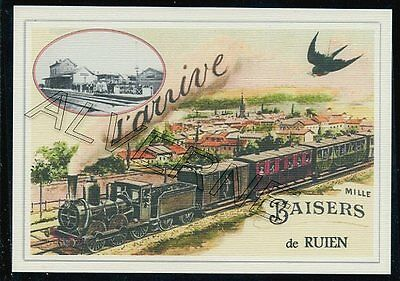 RUIEN  - train souvenir creation moderne - serie limitee numerotee
