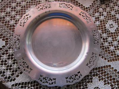 Vintage Miss America Pattern Silver Plate  Ornate Plate