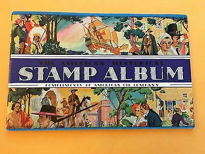 AMOCO American Oil Co 1937 American Historical Stamp Album with all Stamps