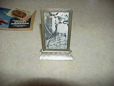 1937 Photo of Tom Mix in silver frame, autographed (Wow 80 years old)