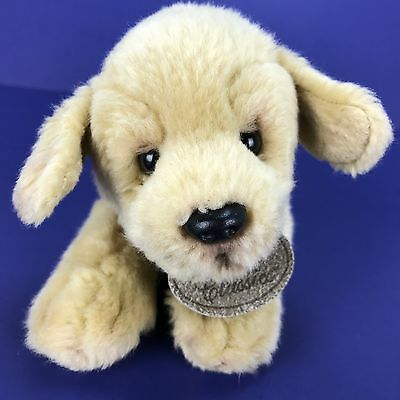 "Russ Yomiko Classics YELLOW LABRADOR Pup Plush Puppy Dog 10"" Long #25361 Laying"