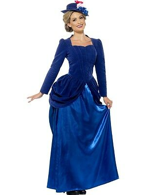Victorian Lady 3 Piece Suit Dress Blue Skirt Bodice & Hat 1890's Costume Dress