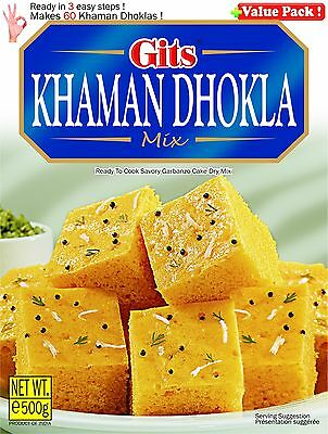 Gits Khaman Dhokla mix 500gm ready to cook
