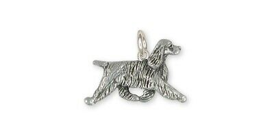 Springer Spaniel Charm Jewelry Sterling Silver Handmade Dog Charm SS8-C