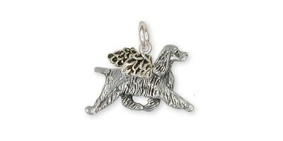 Springer Spaniel Angel Charm Jewelry Sterling Silver Handmade Dog Charm SS8-AC