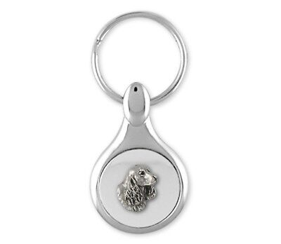 Springer Spaniel Key Ring Jewelry Sterling Silver Handmade Dog Key Ring SS6S-KE