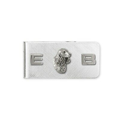 Springer Spaniel Money Clip Jewelry Sterling Silver Handmade Dog Money Clip SS6-