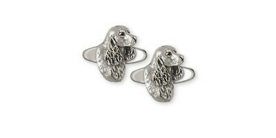 Springer Spaniel Cufflinks Jewelry Sterling Silver Handmade Dog Cufflinks SS6-CL