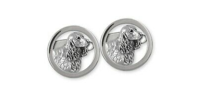 Springer Spaniel Cufflinks Jewelry Sterling Silver Handmade Dog Cufflinks SS5-CL