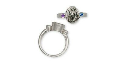 Springer Spaniel Ring Jewelry Sterling Silver Handmade Dog Ring SS4-SR