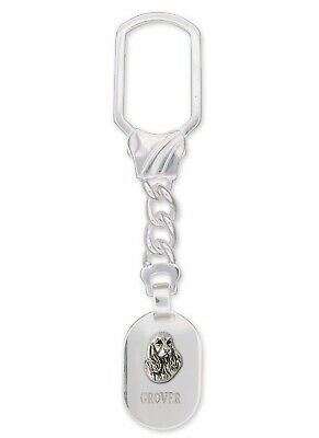 Springer Spaniel Key Ring Jewelry Sterling Silver Handmade Dog Key Ring SS4-KRE