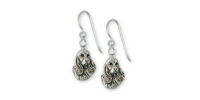 Springer Spaniel Earrings Jewelry Sterling Silver Handmade Dog Earrings SS4-FW