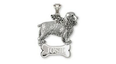 Springer Spaniel Angel Pendant Jewelry Sterling Silver Handmade Dog Pendant SS3-
