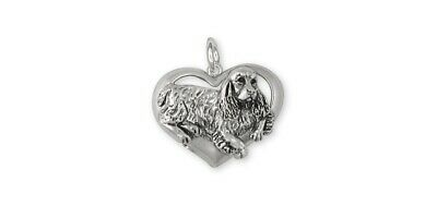 Springer Spaniel Charm Jewelry Sterling Silver Handmade Dog Charm SS2-C
