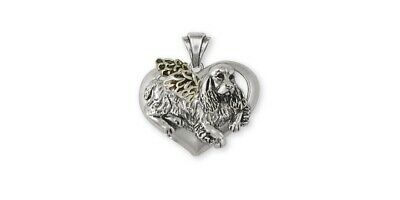 Springer Spaniel Angel Pendant Jewelry Sterling Silver Handmade Dog Pendant SS2-