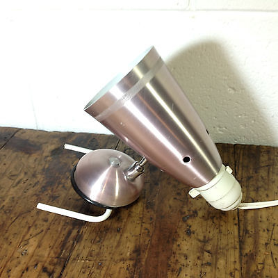 Vintage Pink Anodised Clamp On Bedside Lamp