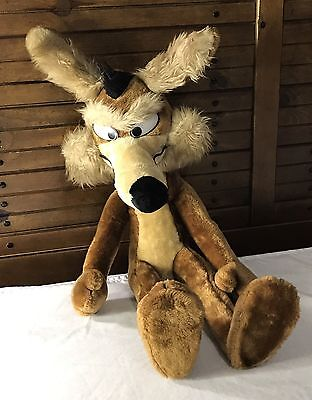 """Vintage 1971 By Mighty Star, Warner Bros. Characters Wile E. Coyote Plush 31"""""""