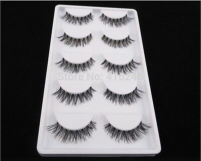 10 Pieces - Natural Sparse Cross Eye Lashes Extension Makeup Long Criscross New