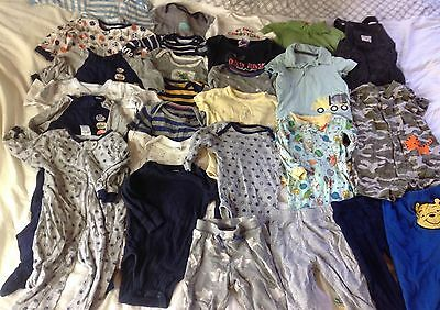 Baby Boys Clothing Size 6-9 Months Lot of 27 Items