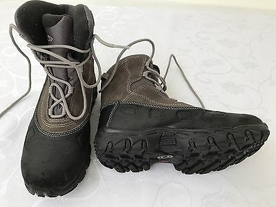 Salomon Junior Hiking Walking Boots Youth Kids Size 1 Waterproof Lace Up Black