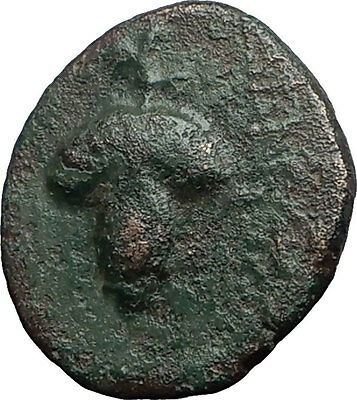DIONYSOPOLIS in MOESIA 220BC Dionysus Grapes Authentic Ancient Greek Coin i59743
