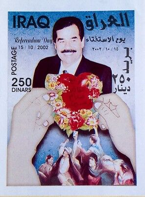 Iraq 2002, Saddam Hussein Referendum Day Stamp. 250 Dinars MNH