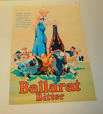 Ballarat Bitter Beer wall poster print perfect for home bar pub or collector