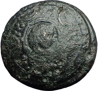 ALEXANDER III the GREAT 323BC Shield Helmet Authentic Ancient Greek Coin i59756