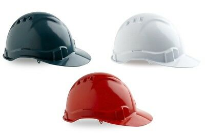Pro Choice Hard Hat 6 Point Vented White Site Safety Construction