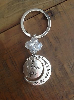 Silver Keyring Gift Keychain Heart Women's Present Lady Love Sale Pendant Chain