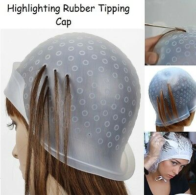 Reusable Hair Colouring Highlighting Rubber Tipping Cap - Hook Frosting