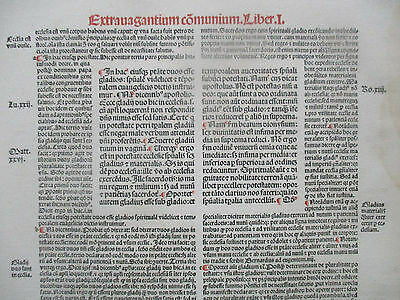 Decorative Post Incunable Leaf Law Red & Black Large Folio Fradin (2) - 1513
