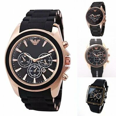 Fashion Men Steel Analog Digital Watch Women Silicone Leather Quartz Wristwatch