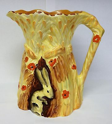 "Art Deco Burleigh Ware Rabbit jug 7 1/4"" high."