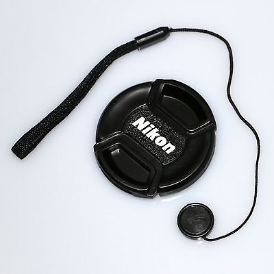 72mm nikon central pinch lens front cap cover with cord for 18-200 24-85 24-120
