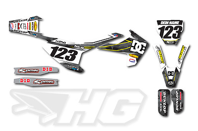 Motocross Dekor Husqvarna TC FC FE TE 125 250 350 450 2014 - 2017 Graphic Design