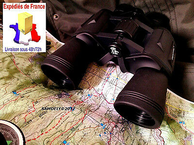 Jumelles Marine Chasse Militaire Rando 20X50 Vision 56/1000M Sacoche  Protection