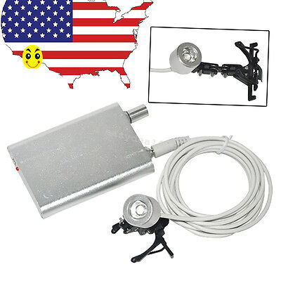 Portable Silver Clip On LED Head Light Lamp for Dental Surgical Loupes Optional