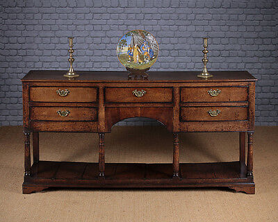 Antique Georgian Oak South Wales Potboard Dresser Base c.1810.