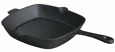 10.5 inch Pre Seasoned Cast Iron Skillet Pan, Square Grill Pan
