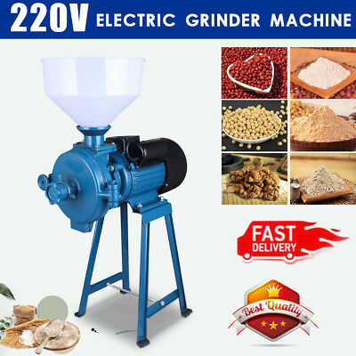 CE Electric Feed Mill Wet Dry Cereals Grinder Corn Grain Rice Coffee Wheat 220V