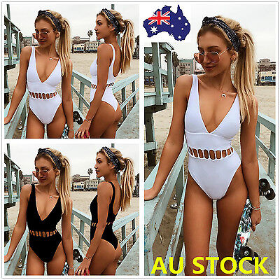 Women Summer One Piece Monokini Bikini Push Up Padded Swimsuit Swimwear AU STOCK