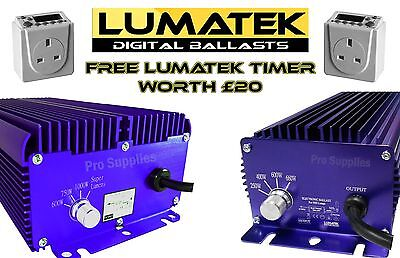 Lumatek digital ballast 400w, 600w 1000w dimmable grow light