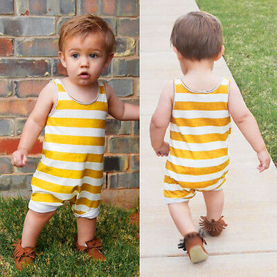 Summer Toddler Newborn Baby Boy Girl Romper Jumpsuit Playsuit Outfits Clothes UK