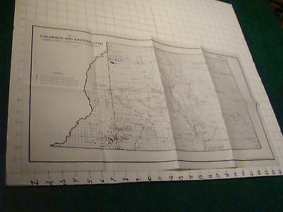 """Original MAP of COLORADO AND EASTERN UTAH pa production & wildcats 1958 15 x 28"""""""