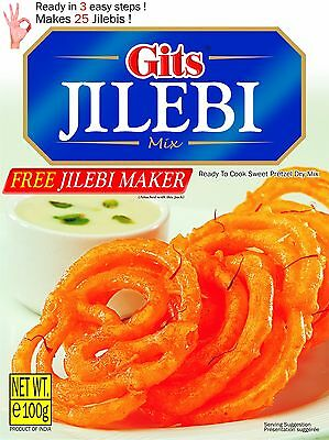 Gits Jilebi Mix 100gm (with jilebi maker) Express delivery