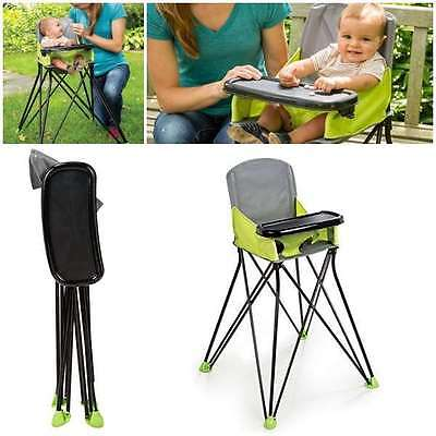 Baby Portable High Chair Folding Travel Camping Highchair Compact Seat Toddler
